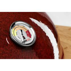 Kamado Chef 2200 Prestige Red Smooth (rozsdamentes acél) Bemutatótermi darab