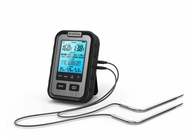 Digitális hús hőmérő, kábeles, 2 db érzékelővel, háttér világítással